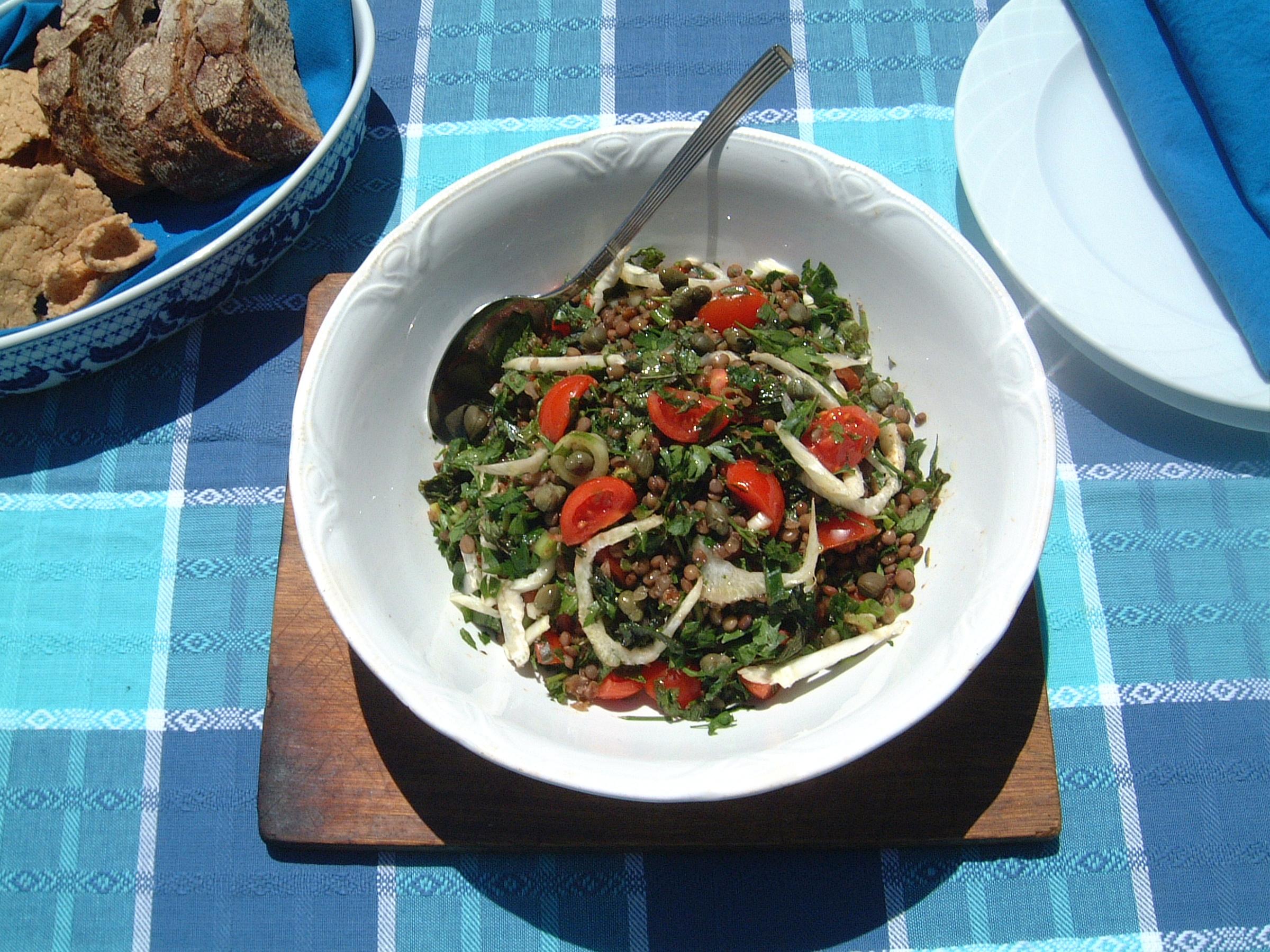 lentils salad lenafusion.gr